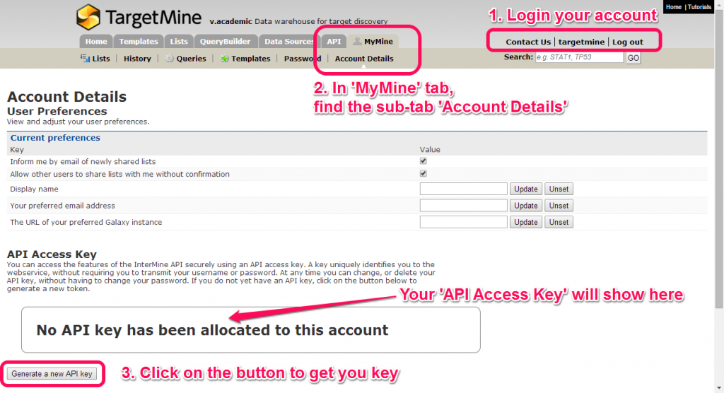 API Access Key
